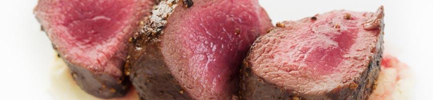 Deer rump steak