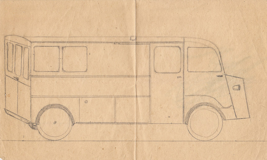 Kanpeerauto schets